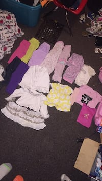 6-9 months includes 5 pants 2 sleepers 2 hoodies and a couple shirts Akron, 44314
