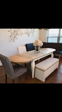 White and brown wooden dining table Fairfax, 22031