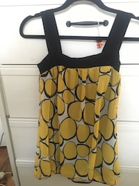Black and yellow spaghetti strap top Surrey, V3R 1Y5