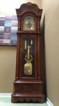 brown wooden grandfather's clock Vaughan, L6A 1B9