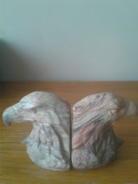 Stone American bald eagle bookends Greenbelt