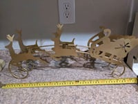 Reindeer indoor sleigh Christmas decorations candle holder new gold Las Vegas, 89149