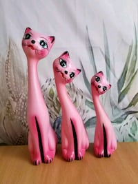 Ceramic Pink cats decoration 1197 mi