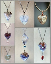 Heart-Shaped Handmade Quartz Pendants Tiverton, 02878