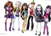 Monster high dolls 10-23 each not for a whole bag! Toronto, M6G 3X3