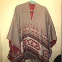 American eagle style poncho one size