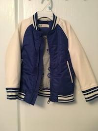 Blue and white baseball bomber jacket- perfect for spring and summer! Whitby, L1R 0L7
