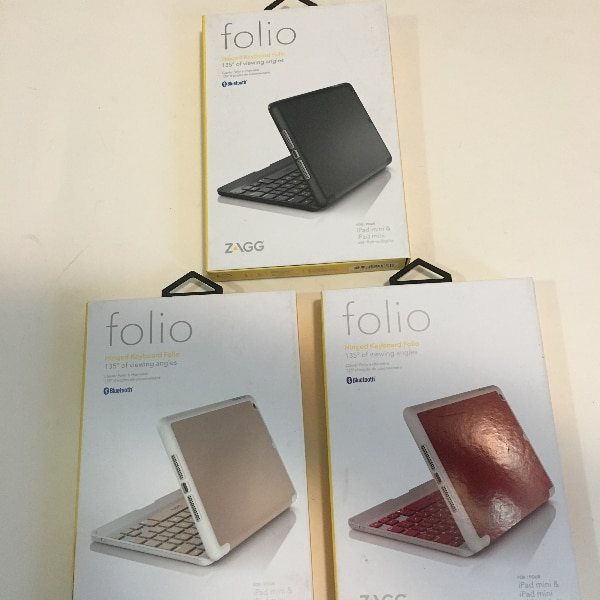 Keyboard Cases for Apple iPad Mini (Red, Rose Gold & Black)
