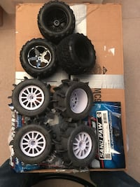 Traxxas stamped 4x4 vxl tire and wheels  Ledgewood, 07852