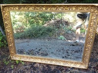42x30 ornate gold be beveled mirror null