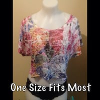 women's white and pink floral blouse Winnipeg, R2L 1G8