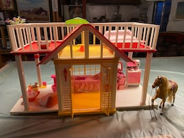 Barbie House Rooftop Patio - Vintage 1980's with Furniture obo