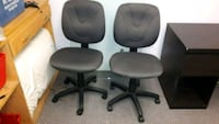 two black leather rolling chairs Kitchener, N2P 1Z6