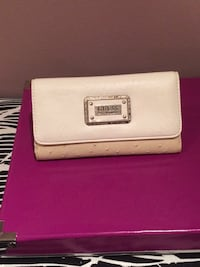 Guess white and brown leather bifold long wallet Hamilton, L8E