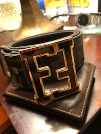 Men's Fendi brown leather belt