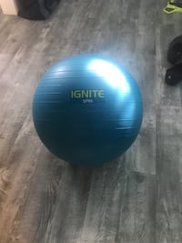 Exercise ball with 5lb weights- will sell separately as well  Colorado Springs, 80905