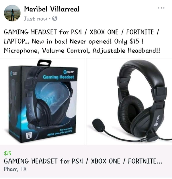 Gaming Headset For Ps4 Xbox One Fortnite New