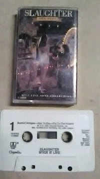 "Slaughter"" stick it live "" cassette tape Anderson, 46011"