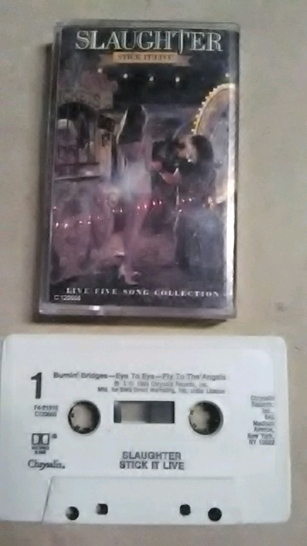 "Slaughter"" stick it live "" cassette tape"