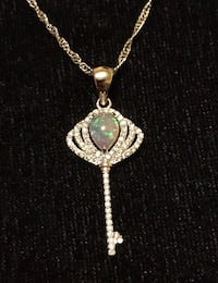 Pink Fire Opal Pendant with ( Free Chain )  Picayune, 39466