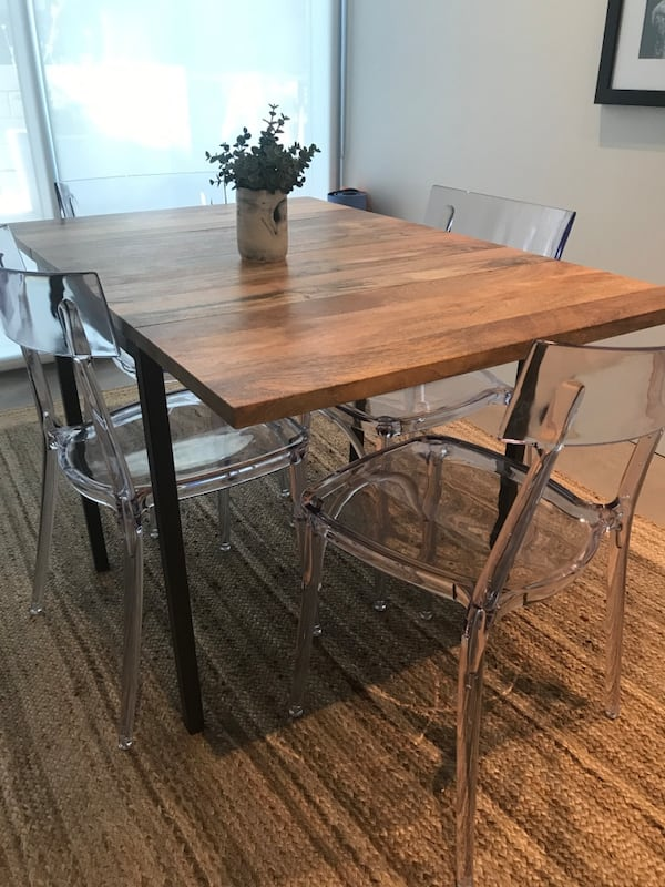Sold West Elm Drop Leaf Table In New