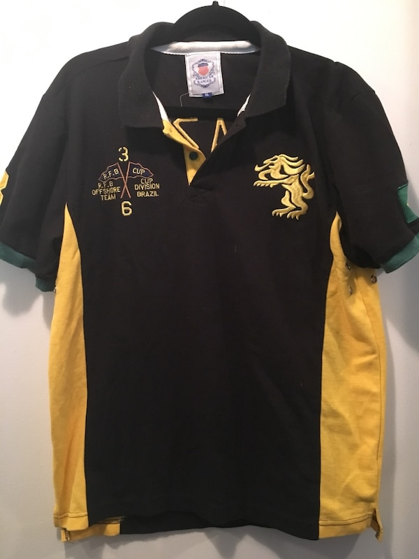 42640be61e44 Used black and yellow Polo Ralph Lauren polo shirt for sale in Hayward -  letgo