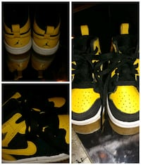 pair of yellow-and-black Nike basketball shoes Harvey, 70058