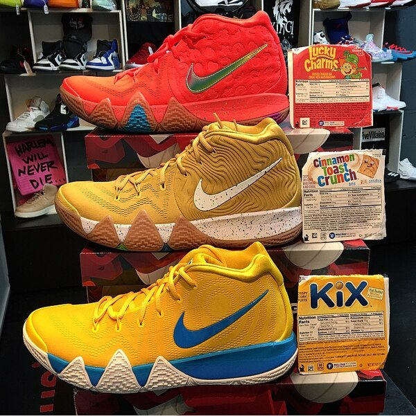 """free shipping 8e582 72fb2 NIKE KYRIE 4 """"LUCKY CHARMS"""" x NIKE KYRIE 4 """"CINNAMON TOAST CRUNCH"""" x NIKE  KYRIE 4 """"KIX"""