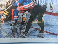 Signed numbered In the Slot Les Tait hockey print Bruins Rangers autographs Grimsby, L3M 2A9