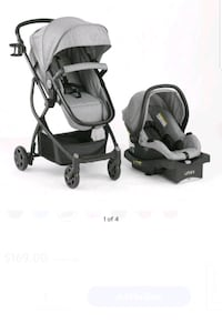 Grey travel system stroller Clermont, 34714