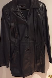 Women's genuine Black leather jacket size Small Montréal, H1E 6S3
