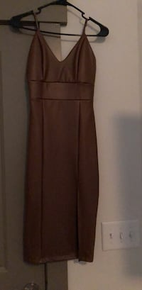 brown pleather dress size M Sandy Springs, 30328