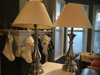 Large Brushed Silver Table Lamps - Set of 2 Leesburg, 20176
