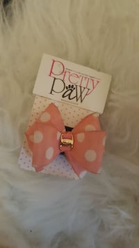 Pink Polkadotted Bow Attachment for Cat Collar!  Toronto, M5T 1N1