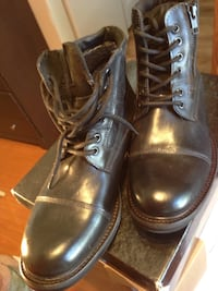 Pair of black leather boots sz 9.5