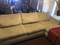 Green sage sectional  full side-Sofa bed! Los Angeles, 90047