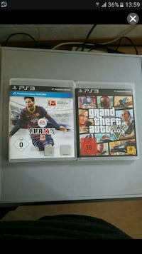 Ps3 Gta5, fifa14 Worms, 67547