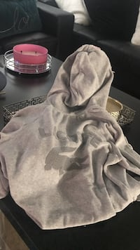 Gray and pink hoodie jacket