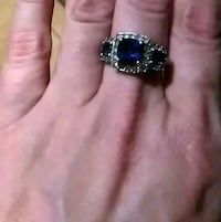 Sterling silver ring with blue Sapphires Atkins, 72823