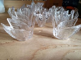 20 Multi craft clear swans