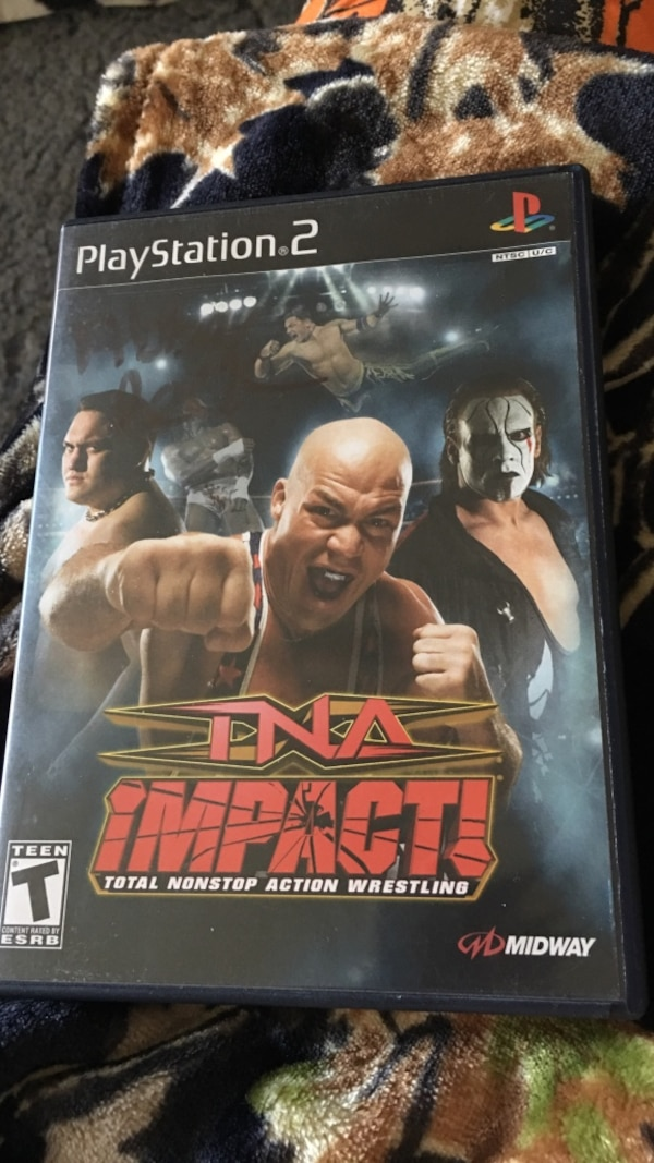 TNA Impact Ps2 game case