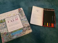 Adult Coloring Book w Colored Pencils