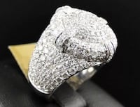 ICED ENCRUSTED CZ PAVE STONE ROUND RING SILVER BOX !!! Kansas City, 64109
