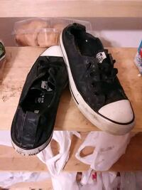 pair of black-and-white Converse all-star sneakers Great Falls, 59401