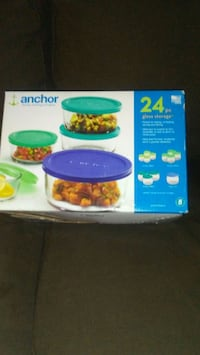 ANCHOR 24PC.. GLASS STORAGE CONTAINERS!! Surrey, V3S 4J5