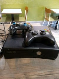 black Xbox 360 console with controllers Greenwood Lake