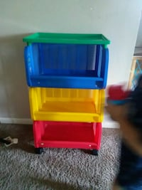 yellow, blue, and red plastic toy organizer Des Moines, 50315