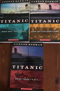 Titanic book series of 3 books by Gordon Korman  Warrenton, 20187