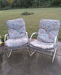 two gray metal framed padded armchairs Hagerstown, 21740