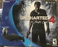 Uncharted 4 ps4 game console with one controller and game Sioux City, 51104